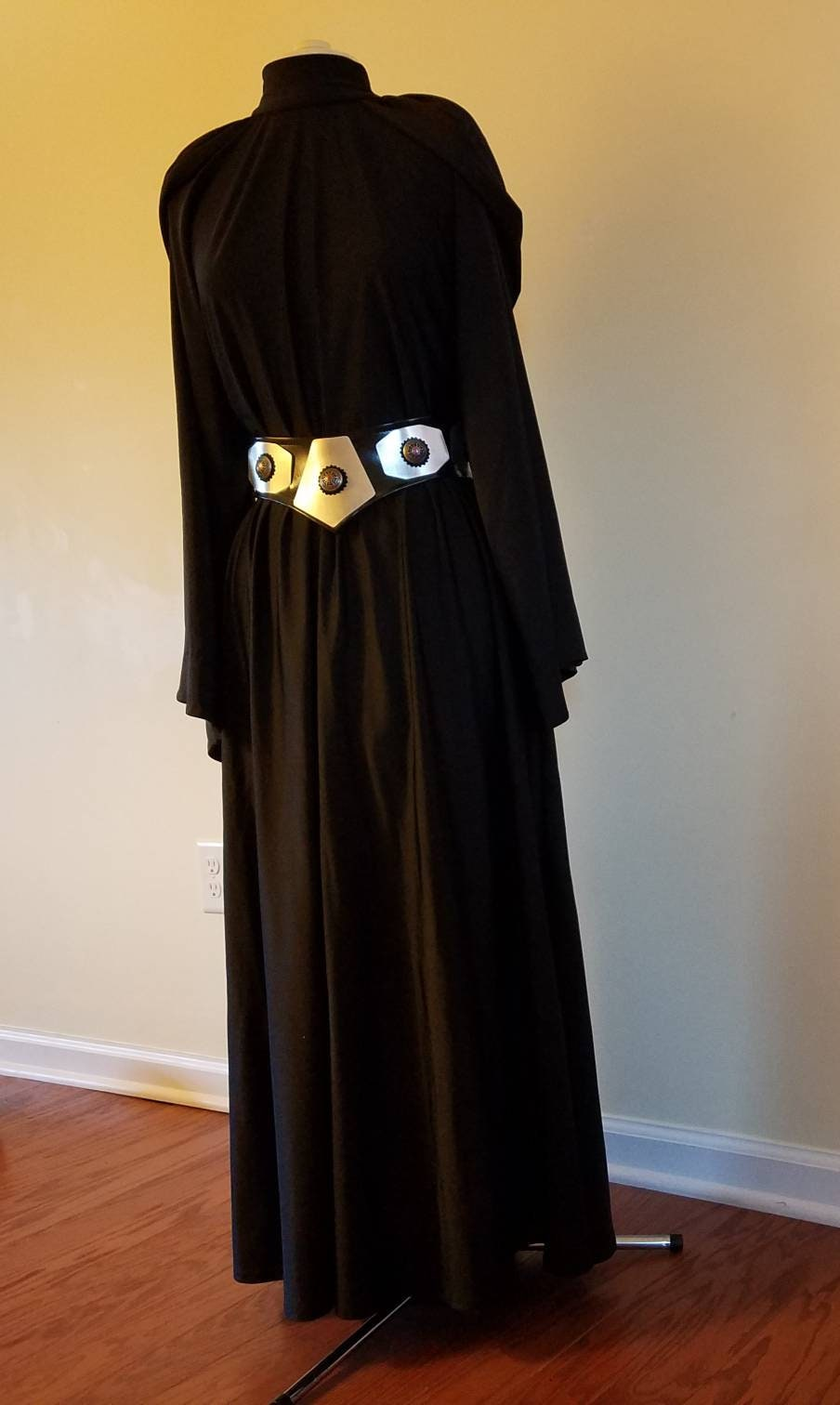Dark Side Princess Leia Organa Cosplay Crossover Costume Black Etsy