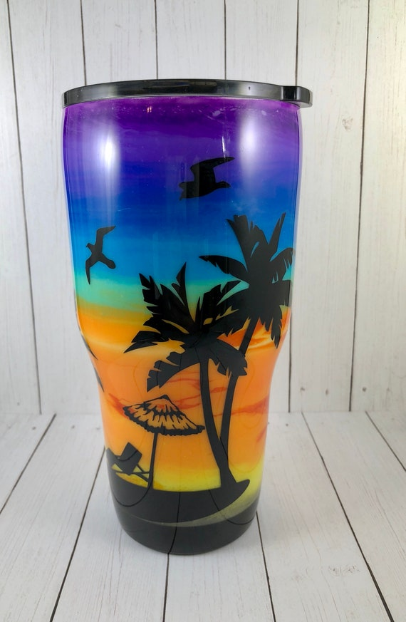 Sunset Beach Stainless Steel Tumbler Double Wall Stainless