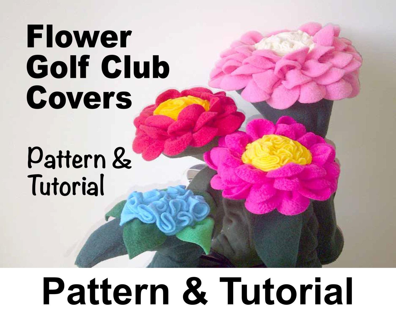 Golf Club Head Covers Flower Sewing Pattern DIY .pdf