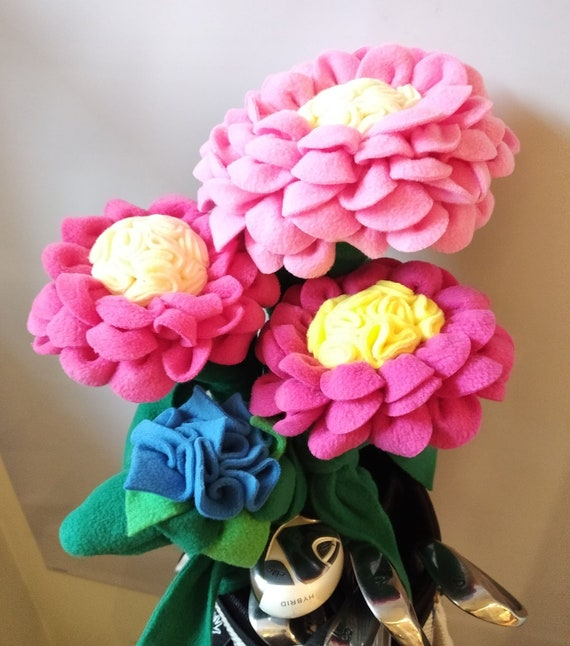 Ladies Flower Golf Club Head Covers Set Of 4 Etsy