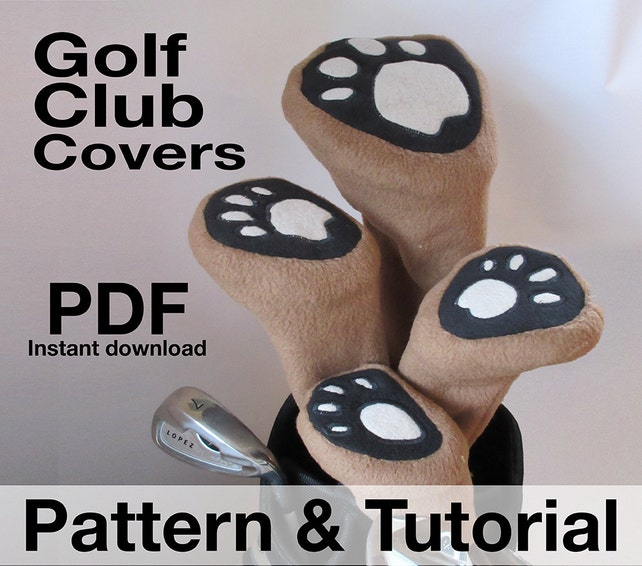Golf Club Head Covers Sewing Pattern Classic Styling Pdf Etsy