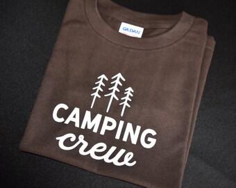 Brown Camping Crew Toddler T-Shirt Size 6T
