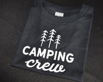 Black Camping Crew Toddler T-Shirt Size 4T