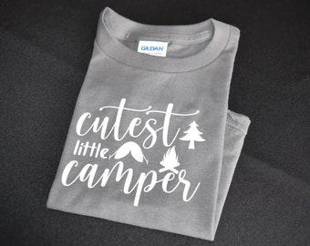 Cutest Little Camper Heather Gray Toddler T-Shirt Size 2T