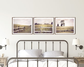 Modern Farmhouse Print Set, Set of 3 prints, Farm Decor, Canvas Print Set, farm wall decor, country wall decor, rustic farmhouse decor