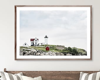 Lighthouse Print, Beach house decor, Maine Coastal Art  print, New England wall decor, Lighthouse Photo, Lighthouse decor, coastal living