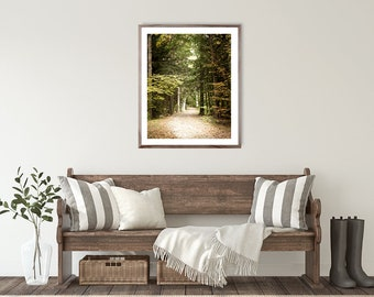 Nature Photography, modern farmhouse decor, Green Forest Landscape Photo, autumn, decor, canvas art, forest print, wall art,  nature print