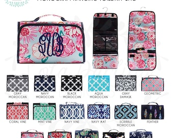 a8f4a1b719 Hanging Toiletry Bag with Monogram cosmetic bag vacation necessity bag