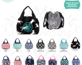Insulated Lunch Bag Lunch box with Monogram a2ab063a092fa