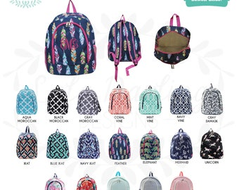 Monogram Backpack/ Diaper Bag/ Sports Bag/ Bookbag / Book bag / Back to school / School Monogram