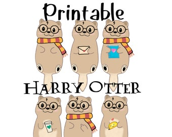Hand Drawn, Harry Otter Inspired Die Cuts - PRINTABLE