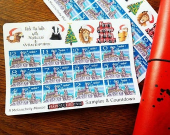 Happy Christmas Sampler & Countdown ~ Hand Drawn Planner Stickers