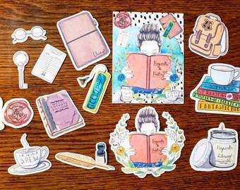 Potter Planner Girl~ Hand Drawn Die Cut Set