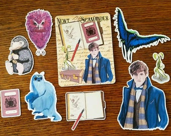 Newt's Suitcase ~ Hand Drawn Die Cuts for Planners, Traveler's Notebooks, Scrapbooking and more!