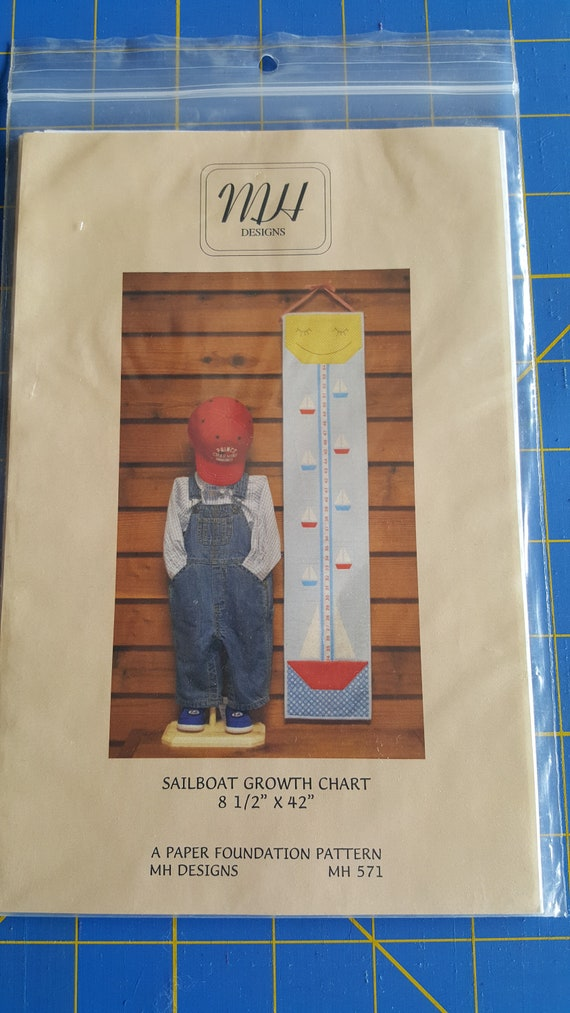Sailboat Growth Chart Paper Piecing Quilt Pattern Quiltsy Etsy