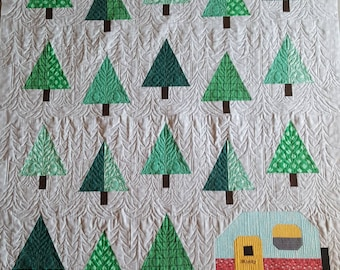 Made to Order Camper in the Woods Quilted Blanket