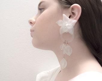 Oversized Earrings / Lucite Earrings / Statement Jewelry / Floria Earrings