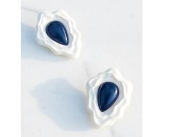 Oversized Earrings / Statement Jewelry / Cosmic Egg Earrings