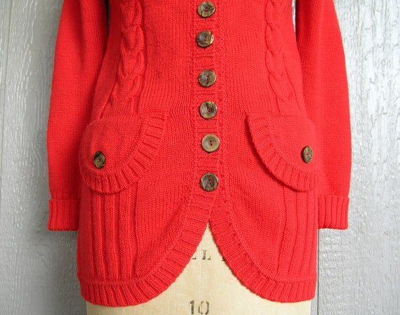 Vintage 70s COZY CABIN CHIC Knit Cardigan and Pan… - image 4