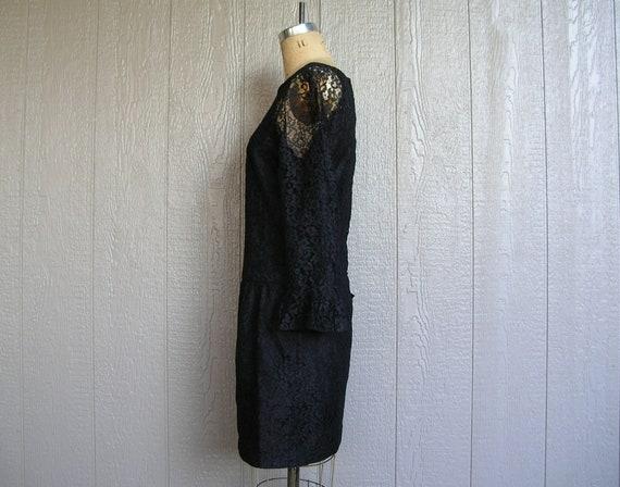 Vintage 20s BLACK LACE AFFAIR Dress - image 8