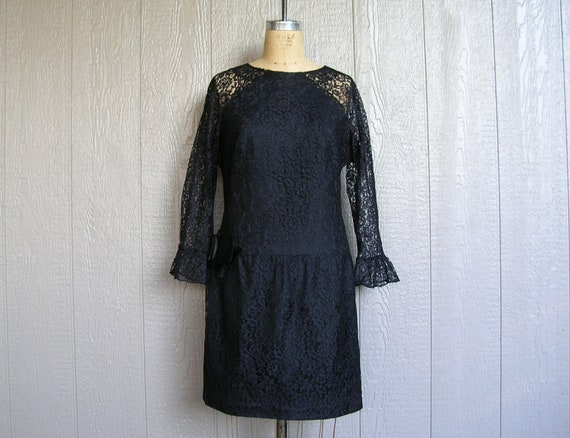 Vintage 20s BLACK LACE AFFAIR Dress