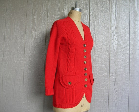 Vintage 70s COZY CABIN CHIC Knit Cardigan and Pan… - image 5