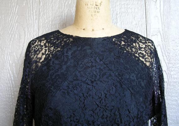 Vintage 20s BLACK LACE AFFAIR Dress - image 2
