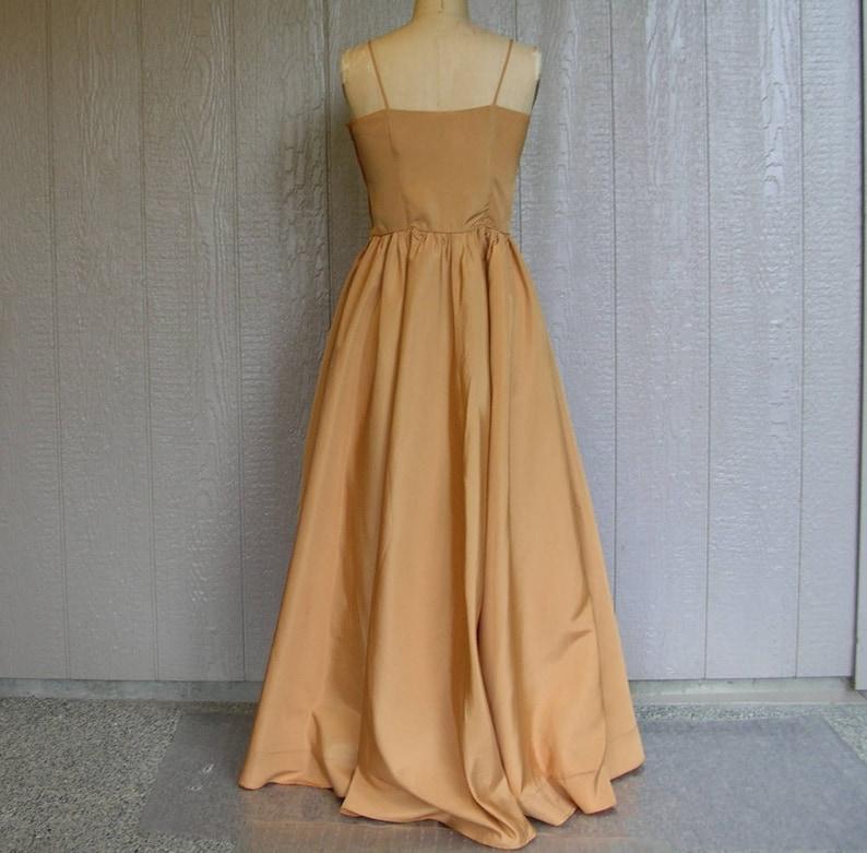 Vintage 50s GLAMOUR GIRL GOLD Evening Dress and Jacket