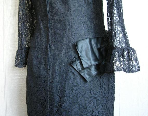 Vintage 20s BLACK LACE AFFAIR Dress - image 6