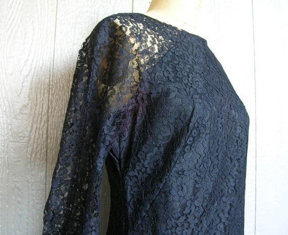Vintage 20s BLACK LACE AFFAIR Dress - image 5