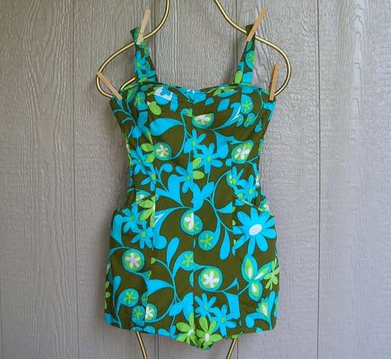 Vintage 50s/60s BOMBSHELLl AT WAIKIKI Bathing Suit