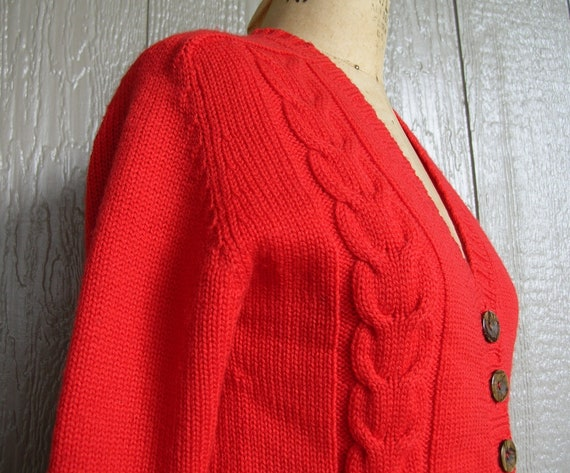 Vintage 70s COZY CABIN CHIC Knit Cardigan and Pan… - image 6