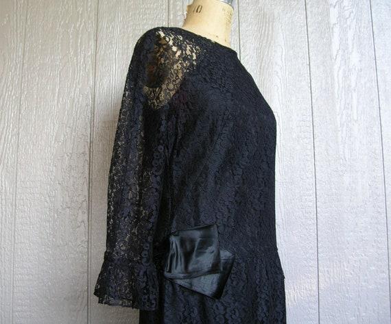 Vintage 20s BLACK LACE AFFAIR Dress - image 4