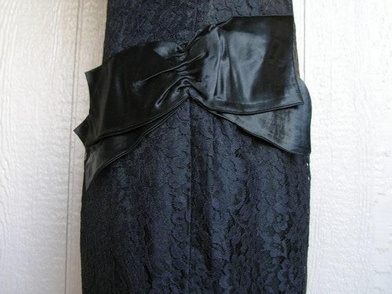 Vintage 20s BLACK LACE AFFAIR Dress - image 7