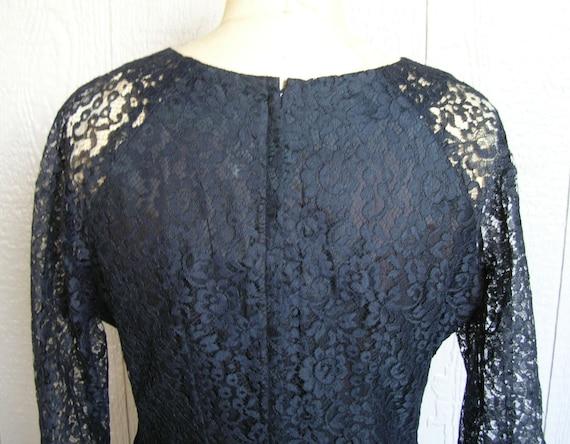 Vintage 20s BLACK LACE AFFAIR Dress - image 10