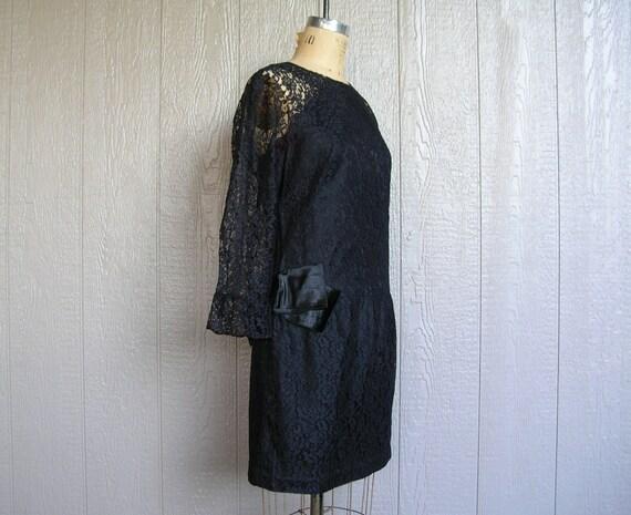 Vintage 20s BLACK LACE AFFAIR Dress - image 3