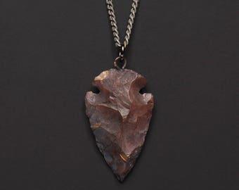 Arrow necklace - Agate Arrow necklace for men - Arrow pendant - Silver chain for men - Men's Jewelry - Necklaces for men - Gift