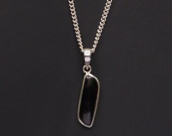 Schungit - Schungit Anhänger - Schungit Schmuck für Männer - Schmuck für Männer - Herren Halskette - natürliche edelsteinhalskette für Männer