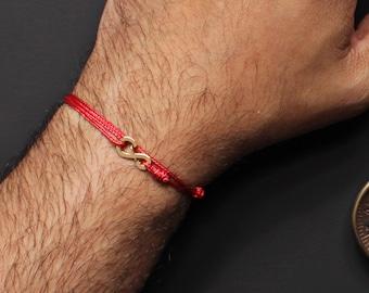 Rote Schnur Armband - rot Schnurarmband - Auge - Schutz-Armband - Rotes Band des Schicksals - Kabbalah - Warp Armband