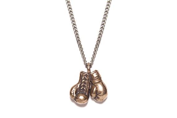 Gants de boxe collier pour homme Mens Bijoux Collier de   Etsy 368100dc0d3