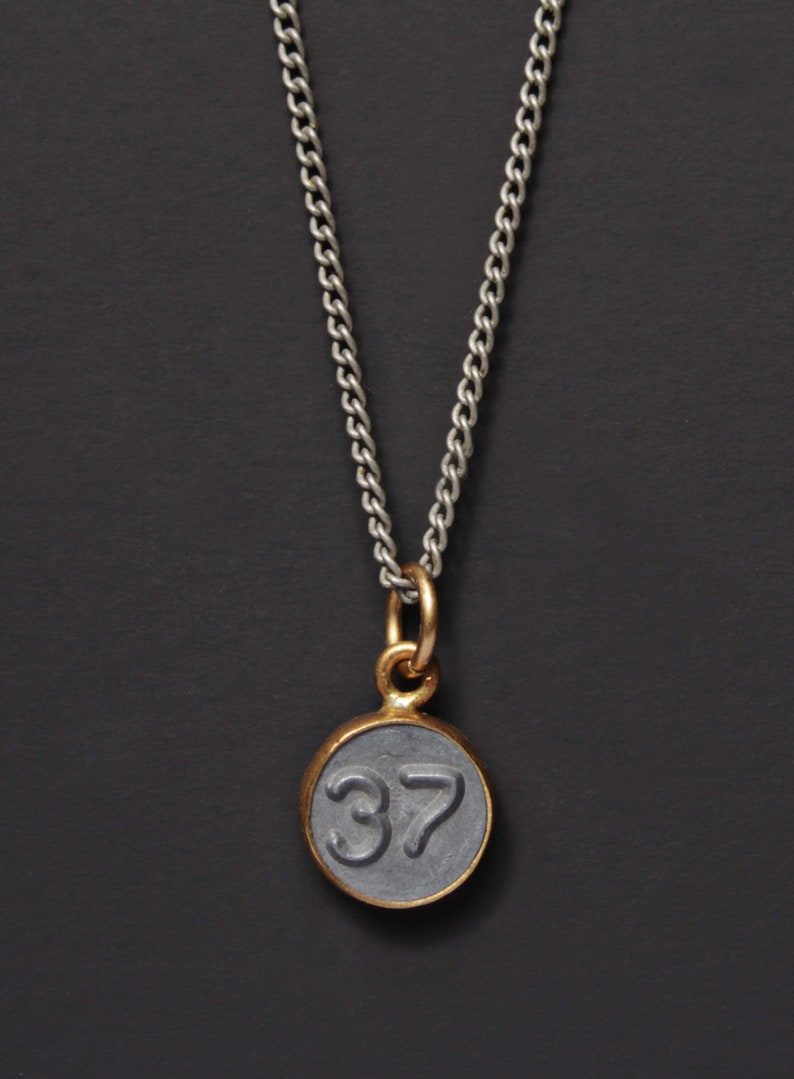 ebb284c8b9d8b Number 37 Necklace / Mens Necklace / Numerology Personalized Men Jewelry /  Man Jewelry / Number THIRTY-SEVEN Pendant / silver chain for men