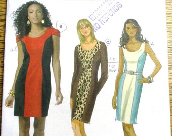 199291104d7c SEXY Color Block Sheath Dress, EASY Princess Seamed Evening Gown - Plus  Size (16 - 22) - UNCUT ff Sewing Pattern Butterick 5554