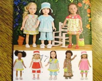 "BOHO Summer Dress, Muu Muu, Yoked Pop Top, Maxi Dress & More: DIY Doll Clothing for 18"" Dolls - UNCUT ff Sewing Pattern Simplicity 1136"
