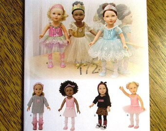 """FANCY Ballet Dress / Ballerina Costume / Doll Dance Clothing / DESIGNER Clothing for 18"""" Dolls - UNCUT ff Sewing Pattern Simplicity 1243"""