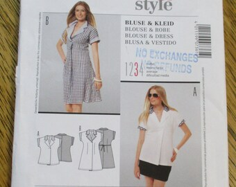 BOHO Fit and Flare Dress or Easy-Fitting Summer Blouse - All Sizes (8 - 20) - UNCUT Sewing Pattern Burda 7361