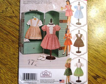 """VINTAGE Doll Dresses: 1950s Dress Designs/ Cute Doll Dress / DIY Doll Clothing for 18"""" Dolls - UNCUT ff Sewing Pattern Simplicity 1244"""