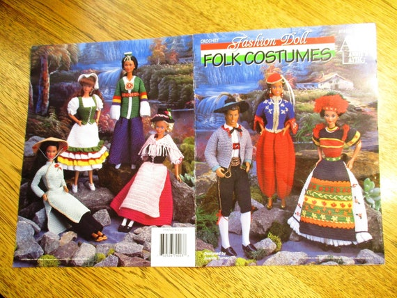 CROCHET moda muñeca trajes típicos - (Corea, Argelia, Gent de Tirol ...