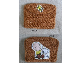 Crochet Charlie Brown Snoopy Coin Card Misc. Pouch