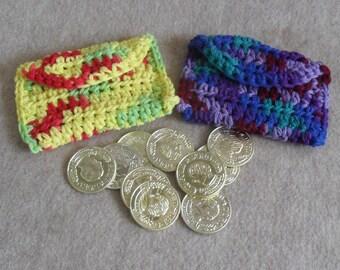 Crochet Coin Card Pouches bonus play fun money (choose one)