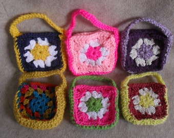 Small Crochet Gift Bags, Gift Pouch for candies, teas, coffees, jewelries or soaps+